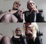 2 Ladys dem�tigen dich! Dein Pimmel ist l�cherlich!