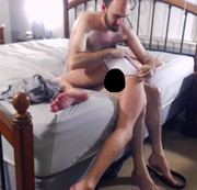 Twink gets his smooth ass spanked and rimmed