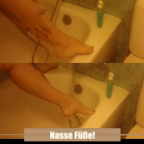 Nasse Füße!