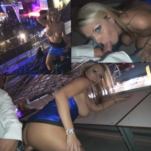 Stripper auf der Extasia gefickt