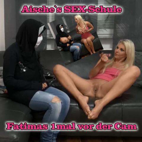 Aische`s Sex-Schule… Fatimas 1mal vor der Cam