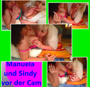 Manuela und Sindy vor der Cam