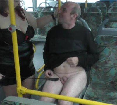 Bus fahren mit einer Domina