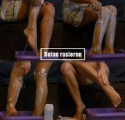 Beine rasieren..!