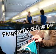 EXTREM PUBLIC: Im FLUGZEUG geblasen!!!