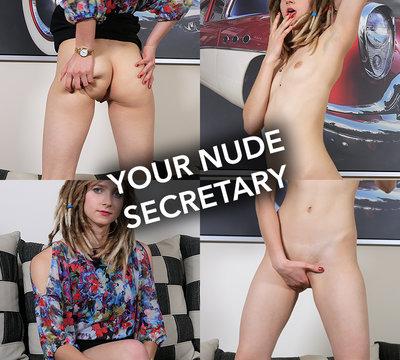 Naked office girl