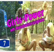 Girls-Power am Autobahnrastplatz