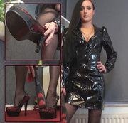 Deine Domina im neuen Lack-Dress!