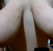 Yin rides my cock with her huge bouncy titties until her shaved pussy is covered with juicy cum.