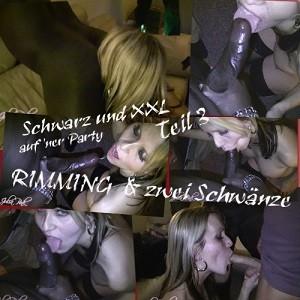 Schwarz und XXL… RIMMING & zwei Schwänze