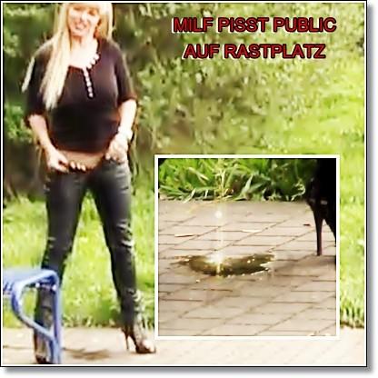 !!!MILF PISST PUBLIC AUF RASTPLATZ!!!!