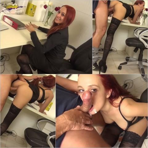 Ehebruch – Sekretärin fickt mit dem Chef!