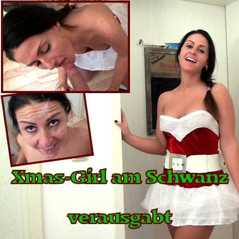 Xmas-Girl am Schwanz verausgabt