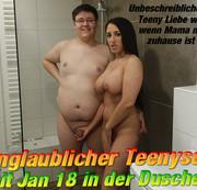 Unglaublicher Teenysex mit Jan 18 in der Dusche !