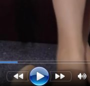 Footjob! Bestrumpfte Nylon-F�sse mit dickem Dildo gewixt!