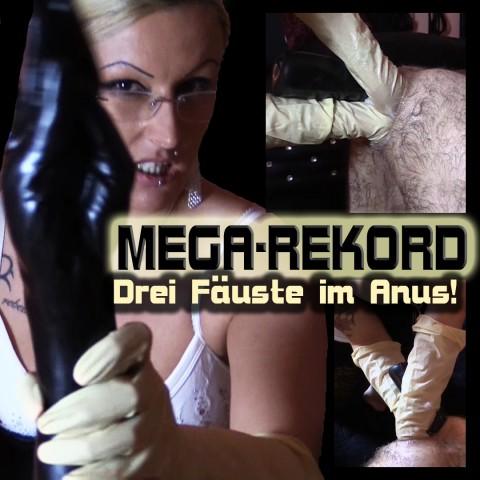 Mega Rekord! Drei Fäuste im Anus!