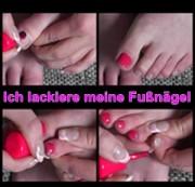 Ich lackiere meine Fußnägel