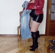 geil Pipi  in meine Cousin neues  Jeans.)