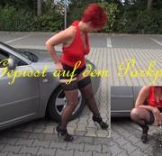 Auf dem Parkplatz gepisst.....